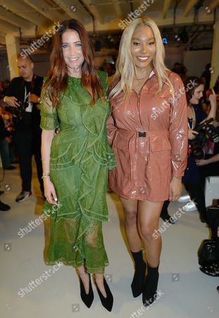 Lisa Snowdon and Munroe Bergdorf in the front row