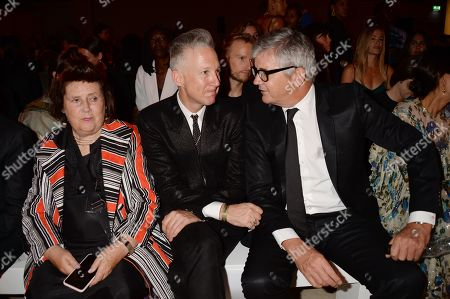 Stock Image of Suzy Menkes, Jefferson Hack and Jay Jopling in the front row