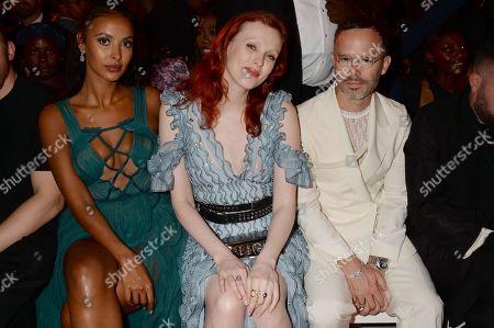 Maya Jama, Karen Elson and Daniel Arsham in the front row