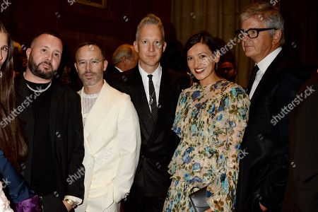 Kim Jones, Daniel Arsham, Jefferson Hack, Hikari Yokoyama and Jay Jopling in the front row