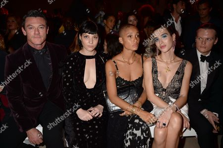 Luke Evans, Olivia Singer, Adwoa Aboah, Maxim Magnus and Anders Christian Madsen in the front row