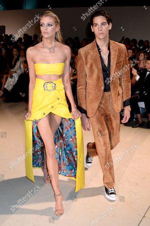 Stella Maxwell and Paris Brosnan on the catwalk