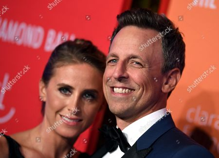 Alexi Ashe and Seth Meyers