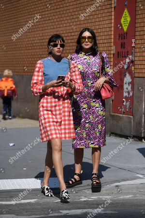 Stock Picture of Natalie Suarez and Dylana Suarez