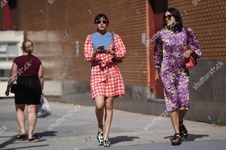 Editorial picture of Street Style, Spring Summer 2020, New York Fashion Week, USA - 11 Sep 2019