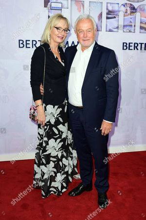 Vice president of the German Parliament Wolfgang Kubicki (R) and his wife Annette Marberth-Kubicki attend the red carpet of the Bertelsmann party 2019 in Berlin, Germany, 12 September 2019. More than 600 guests from all fields of society are invited for the Bertelsmann Party 2019.