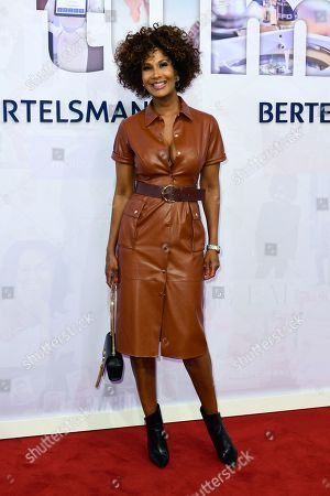 German model Marie Amiere attends the red carpet of the Bertelsmann party 2019 in Berlin, Germany, 12 September 2019. More than 600 guests from all fields of society are invited for the Bertelsmann Party 2019.
