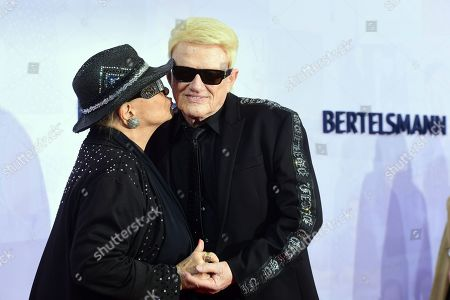 Stock Image of German musician Heinz Georg Kramm (R) and his wife Hannelore Kramm attend the red carpet of the Bertelsmann party 2019 in Berlin, Germany, 12 September 2019. More than 600 guests from all fields of society are invited for the Bertelsmann Party 2019.