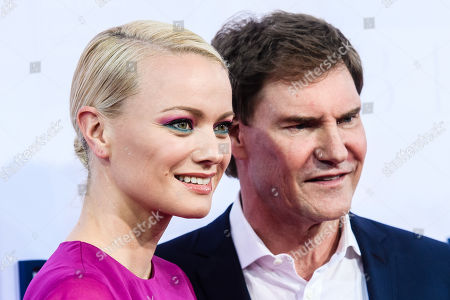 Stock Image of German model Franziska Knuppe (L) and German businessman Carsten Maschmeyer attend the Bertelsmann Party 2019 in Berlin, Germany, 12 September 2019 (issued 13 September 2019). More than 600 guests from all fields of society were invited to the event.