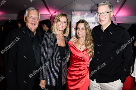 German businessman Hans Rudolf Woehrl (L), his wife, German politician Dagmar Woehrl (2-L), and German businessman Frank Thelen (R) and his wife Nathalie Thelen-Sattler (3-L) attend the Bertelsmann Party 2019 in Berlin, Germany, 12 September 2019 (issued 13 September 2019). More than 600 guests from all fields of society were invited to the event.