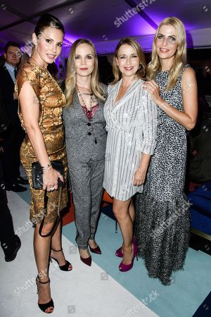 (L-R) Reality TV actress Dany Michalski, German boxer Regina Halmich, German actress Tina Rulan and German TV presenter Tanja Buelter attend the Bertelsmann Party 2019 in Berlin, Germany, 12 September 2019 (issued 13 September 2019). More than 600 guests from all fields of society were invited to the event.