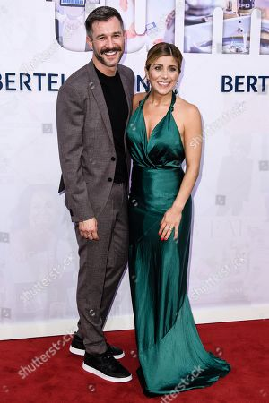 Stock Picture of German TV presenter Panagiota 'Jota' Petridou (R) and German actor Jochen Schropp attend the Bertelsmann Party 2019 in Berlin, Germany, 12 September 2019 (issued 13 September 2019). More than 600 guests from all fields of society were invited to the event.