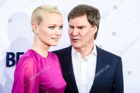 German model Franziska Knuppe (L) and German businessman Carsten Maschmeyer attend the Bertelsmann Party 2019 in Berlin, Germany, 12 September 2019 (issued 13 September 2019). More than 600 guests from all fields of society were invited to the event.