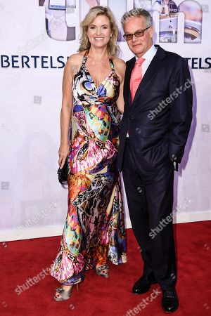 German TV presenter Carola Ferstl and Carola Ferstl (L) and husband Anton Voglmaier attend the Bertelsmann Party 2019 in Berlin, Germany, 12 September 2019 (issued 13 September 2019). More than 600 guests from all fields of society were invited to the event.
