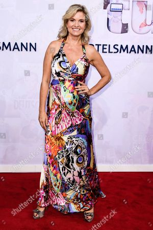 Stock Image of German TV presenter Carola Ferstl attends the Bertelsmann Party 2019 in Berlin, Germany, 12 September 2019 (issued 13 September 2019). More than 600 guests from all fields of society were invited to the event.