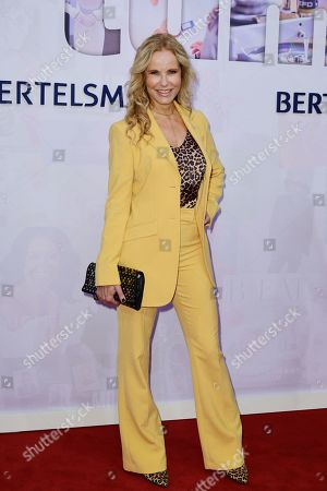 German television presenter Katja Burkard attends the red carpet of the Bertelsmann party 2019 in Berlin, Germany, 12 September 2019. More than 600 guests from all fields of society are invited for the Bertelsmann Party 2019.