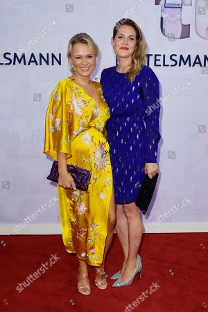 German actress Nova Meierhenrich (L) and actress Felicitas Woll (R) attend the red carpet of the Bertelsmann party 2019 in Berlin, Germany, 12 September 2019. More than 600 guests from all fields of society are invited for the Bertelsmann Party 2019.