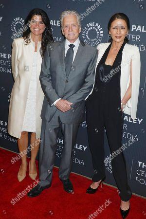 Maureen J. Reidy (CEO; Paley Center for Media), Michael Douglas and Catherine Zeta-Jones