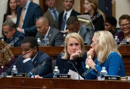 Joe Neguse, Sylvia Garcia, Mary Gay Scanlon. Democrats on the House Judiciary Committee listen to debate as Chairman Jerrold Nadler, D-N.Y., leads his panel to approve guidelines for impeachment investigation hearings on President Donald Trump, on Capitol Hill in Washington,. From left on bottom row are Rep. Joe Neguse, D-Colo., Rep. Sylvia Garcia, D-Texas, and Rep. Mary Gay Scanlon, D-Pa