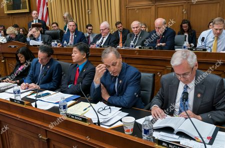 Tom McClintock, Andy Biggs, Ted Lieu, Jamie Raskin, Pramila Jayapal. The House Judiciary Committee, led by Chairman Jerrold Nadler, D-N.Y., debates approval of guidelines for impeachment investigation hearings on President Donald Trump, on Capitol Hill in Washington,. From right to left in front row are Rep. Tom McClintock, R-Calif., Rep. Andy Biggs, R-Ariz., Rep. Ted Lieu, D-Calif., Rep. Jamie Raskin, D-Md., and Rep. Pramila Jayapal, D-Wash