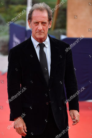 Stock Picture of Vincent Lindon arrives on the red carpet prior to the premiere of 'Une vie cachee' during the 45th Deauville American Film Festival, in Deauville, France, 12 September 2019. The festival runs from 06 to 15 September 2019.