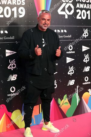 Stock Image of Spanish music producer and singer Juan Magan poses for the media during LOS40 Music Awards 2019 nominee dinner, in Madrid, Spain, 12 September 2019.