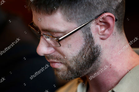 John Williams sheds a tear during his sentencing hearing, in Portland, Maine, for the April 25, 2018 killing of Somerset County Cpl. Eugene Cole. Williams was sentenced to life in prison