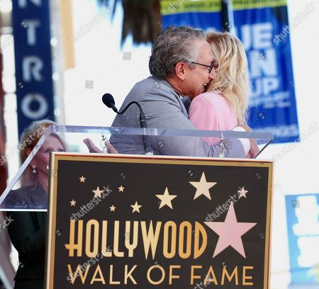 Bernard Telsey and Judith Light attend Judith Light's Hollywood Walk of Fame Star Ceremony.