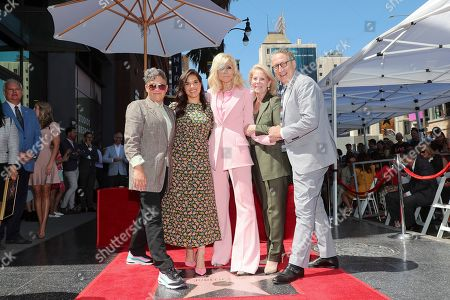Stock Picture of Jill Soloway, America Ferrera, Judith Light, Daryl Roth and Bernard Telsey