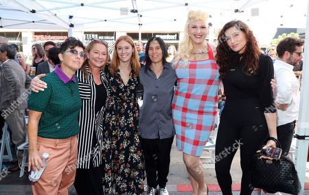 Stock Image of Faith Soloway, Andrea Sperling, Shakina Nayfack and Trace Lysette attend Judith Light's Hollywood Walk of Fame Star Ceremony