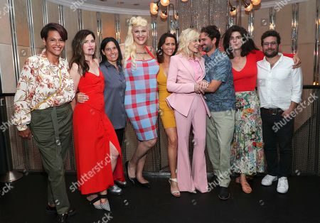 Alexandra Billings, Kathryn Hahn, Andrea Sperling, Shakina Nayfack, Amy Landecker, Judith Light, Jay Duplass, Gaby Hoffmann and Joe Lewis attend Judith Light's Hollywood Walk of Fame Star Ceremony.