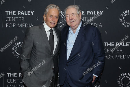 Stock Picture of Michael Douglas, Frank A. Bennack, Jr.