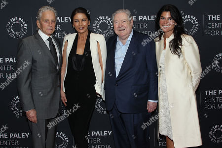 Stock Image of Michael Douglas, Catherine Zeta-Jones, Frank A. Bennack, Jr., Maureen Reidy