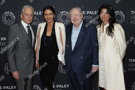 Stock Photo of Michael Douglas, Catherine Zeta-Jones, Frank A. Bennack, Jr., Maureen Reidy
