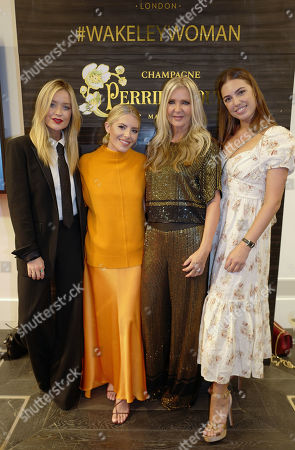 Laura Whitmore with Mollie King, Amanda Wakeley and Amber Le Bon