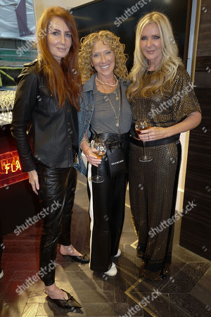 Amanda Wakeley and Kelly Hoppen with a guest