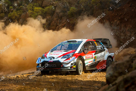 Jari-Matti Latvala of Finland drives his Toyota Yaris WRC during the shakedown of the Rally Turkey 2019 as part of the World Rally Championship (WRC) near Marmaris, Turkey, 12 September 2019.