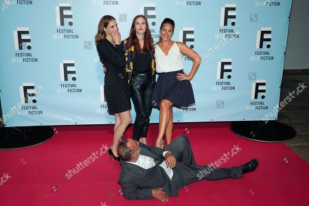 (1st Row) Antoine Dulery, (2nd Row) Camille Lou, Audrey Fleurot and Julie De Bona