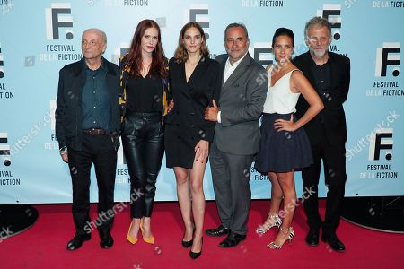(L-R) A guest, Audrey Fleurot, Camille Lou, Antoine Dulery, Julie De Bona and Gilles Guillon