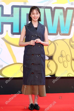 Japanese actress Tsubasa Honda attends the Tokyo Game Show 2019 opening ceremony