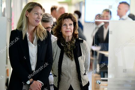 Queen Silvia visit to NetClean Company, Gothenburg
