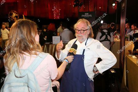 Renowned chief and founder of Patina Restaurant Group Joachim Splichal is interviewed about his special menu of classic dishes and small plates created for the 71st Emmy Awards Governors Ball at the press preview, in Los Angeles