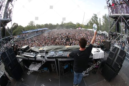Stock Picture of The DJ and Festival producer Joachim Garraud performs on stage during the 10th anniversary of the Electric Park Festival