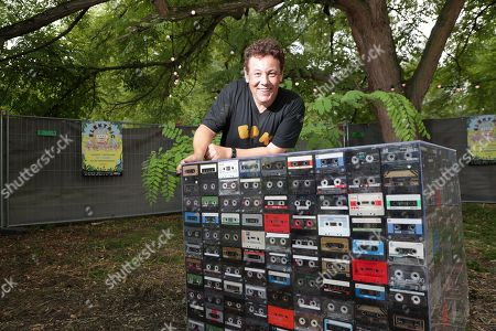 The DJ and Festival producer Joachim Garraud poses during the 10th anniversary of the Electric Park Festival
