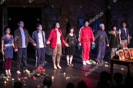Tuyen Do (Lili/An-Mei/Ruzhen), Vincent Lai (Wen/Johnny), Aidan Cheng (Little Yi/Peter), Celeste Den (Yin-Yin/Luo-Na), Shuping Wang, Christopher Goh (Shen/Han-Han), Togo Igawa (Old Yang/Minister Li), Millicent Wong (Jasmine/Pei-Pei) and Kok-Hwa Lie (Kuan/Wang-Wei) during the curtain call
