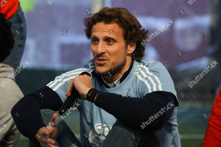 Former Uruguayan soccer player Diego Forlan attends a celebration of the 30th anniversary of the NGO Gurises Unidos in Montevideo, Uruguay, 12 September 2019. Gurises Unidos was founded to protect the rights of disadvantaged children in Uruguay.