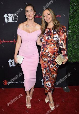 "Eva Amurri Martino, Helena Glazer. Actress Eva Amurri Martino, left, and Helena Glazer attend the Save the Children's ""The Centennial Gala: Changing the World for Children"" at the Hammerstein Ballroom, in New York"