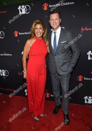 """Hoda Kotb, Willie Geist. Today show co-hosts Hoda Kotb, left, and Willie Geist attend the Save the Children's """"The Centennial Gala: Changing the World for Children"""" at the Hammerstein Ballroom, in New York"""
