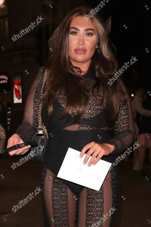 Lauren Goodger leaving the Hard Rock Cafe