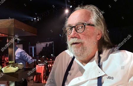 Chef and founder of Patina Restaurant Group Joachim Splichal serves dishes during the 71st Emmy Awards Governors Ball press preview at L.A. Live in Los Angeles, California, USA, 12 September 2019. The 71st Primetime Emmy Awards will be held on 22 September 2019.